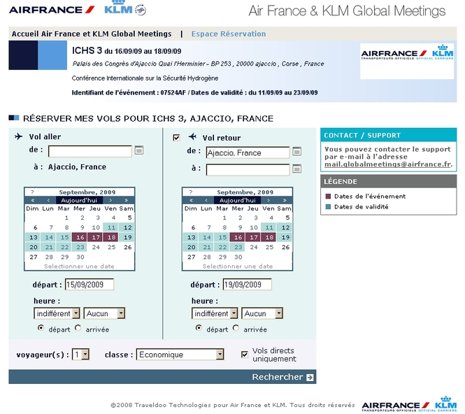 Air France partnership for the Event ICHS 3